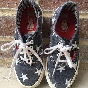 Kids Vans Stars Lace Up Shoes
